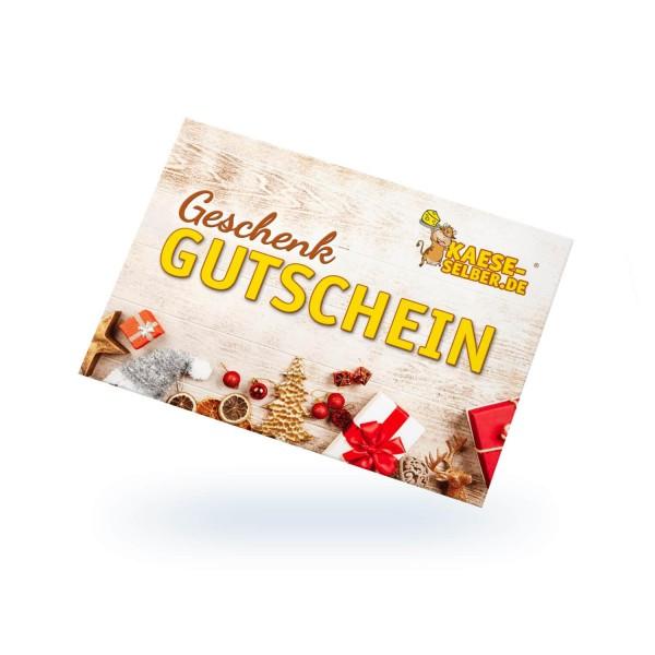Geschenkgutschein KAESE-SELBER.DE Onlineshop Weihnachtsedition