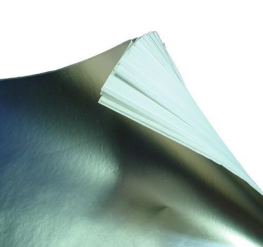 Alu Folie mit Pergamentpapier (10 Blatt) 37 x 49 cm