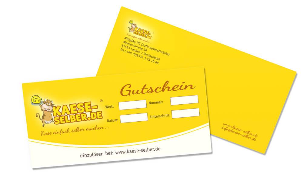 Gutschein KAESE-SELBER.DE Online Shop