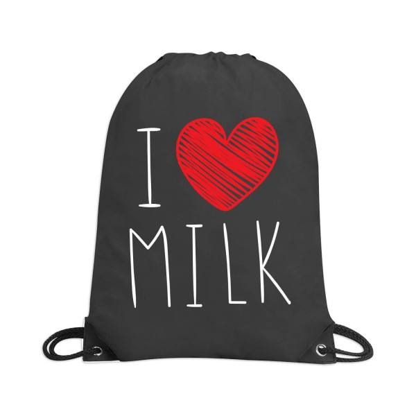 """Rucksacktasche """"I love Milk"""""""
