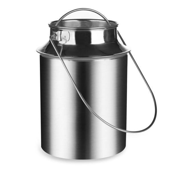 Milchkanne 6 Liter aus Edelstahl